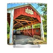 Old Trostle Town Bridge Shower Curtain