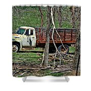 Old Truck At Rest Shower Curtain