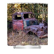 Old Truck - Purtis Creek Shower Curtain