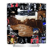 Old Tucson Arizona Composite Of Artists Performing There 1967-2012 Shower Curtain