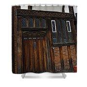 Old Tudor Doorway Shower Curtain