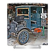Old Tyme Auto Shop Shower Curtain