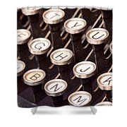 Old Typewriter Keys Shower Curtain