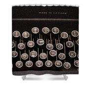 Old Typewriter Shower Curtain