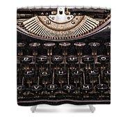 Old Typewriter Shower Curtain