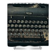 Old Typewriter With Letter Shower Curtain