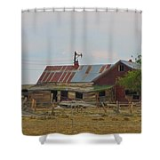 Old Vacant Country Property Shower Curtain