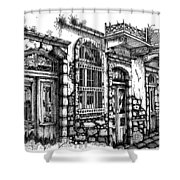 old Venetian doors Shower Curtain