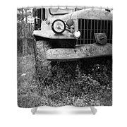 Old Vintage Dodge Work Truck Shower Curtain