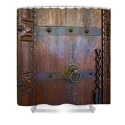 Old Vintage Door With Chain Shower Curtain
