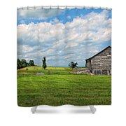 Old Virginia Barn Shower Curtain