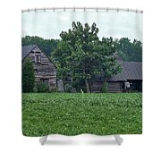 Old Virginia Barns Shower Curtain