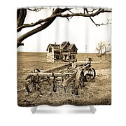 Old Wagon And Homestead Shower Curtain