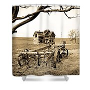 Old Wagon And Homestead II Shower Curtain by Athena Mckinzie