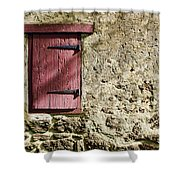 Old Wall And Door Shower Curtain