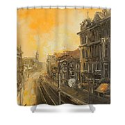 Old Warsaw - Marszalkowska Shower Curtain