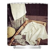 Old Washboard Shower Curtain