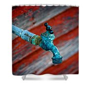 Old Water Valve Shower Curtain