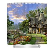 Old Waterway Cottage Shower Curtain