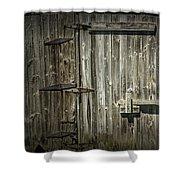 Old Weathered Barn Door Shower Curtain