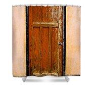 Old Weathered Door Shower Curtain