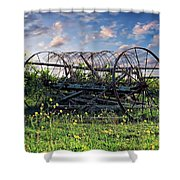 Old Weathered Plow Shower Curtain