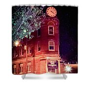 Old Wedge Bank  Building  Haunted Alton Ill Shower Curtain