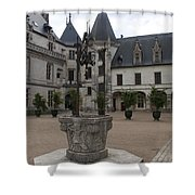 Old Well And Courtyard Chateau Chaumont Shower Curtain