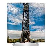 Old Welland Lift Bridge  Shower Curtain