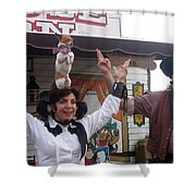 Old West Canine Show Patriotic Dog Pinal County Fair Eleven Mile Corner Arizona 2005 Shower Curtain