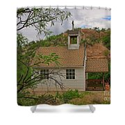 Old West Church In The Desert Shower Curtain