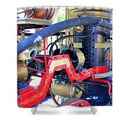 Old West Fire Wagon Shower Curtain