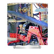 Old West Fire Wagon V2 Shower Curtain