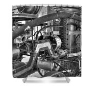 Old West Fire Wagon V4 Shower Curtain