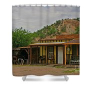 Old West Homestead Shower Curtain