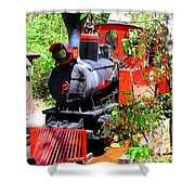 Old West Locomotive 2 Shower Curtain