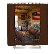 Old West School House Shower Curtain