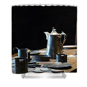Old West Table Setting Shower Curtain