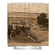 Old West Wagon Shower Curtain