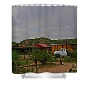 Old Western Backyard Shower Curtain