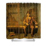 Old Western Jail Shower Curtain