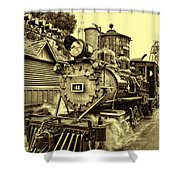 Old Western Railroad Shower Curtain