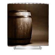 Old Whisky Barrel Shower Curtain