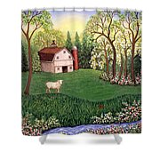 Old White Barn Shower Curtain