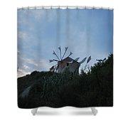 Old Wind Mill 1830 Shower Curtain