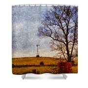 Old Windmill On The Farm Shower Curtain