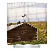Old Windmill Vs New Windmills Shower Curtain