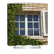 Old Window With Creeper. Shower Curtain