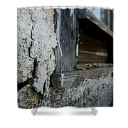 old windowsill cracked up Streetman Texas Shower Curtain