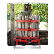 Old Wine Press Shower Curtain